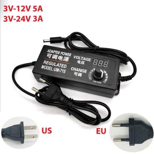 Power Supply Adapter Adjustable AC to DC 3V-12V