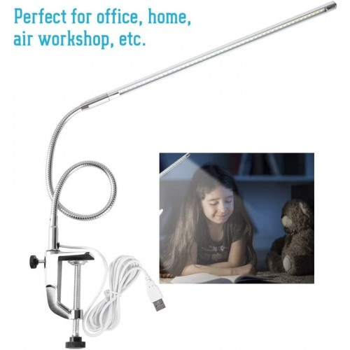 Desk Lamp, USB Tattoo Beauty Lamp with Clamp Adjustable LED