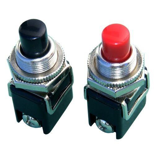 Бутонен превключвател, бутон, OFF - (ON), отвор ф12, 2A/250VAC, SPST