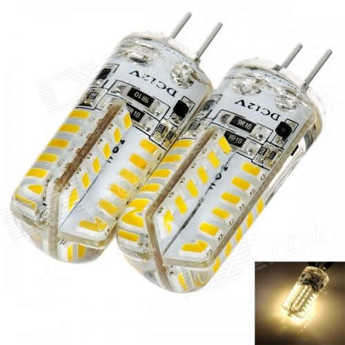 G4 DC12V 2.5W 140lm 3000K Warm White 48-SMD 3014 LED Bulb