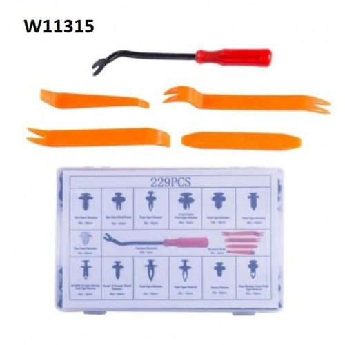 Plastic retainer clips kit 229 pieces W11315 WENCHANG