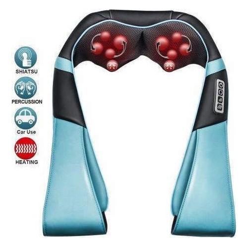 Shiatsu Kneading Electric Massager Shawl 4-Button Infrared Neck Heat Relax Treatment Device