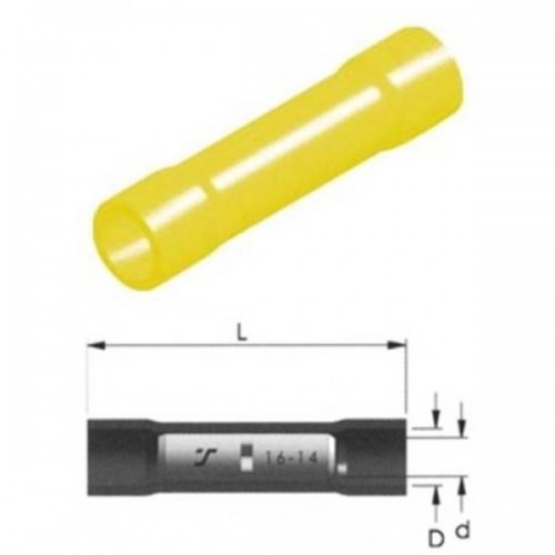 CABLE CONNECTOR INSULATED YELLOW 5.5mm