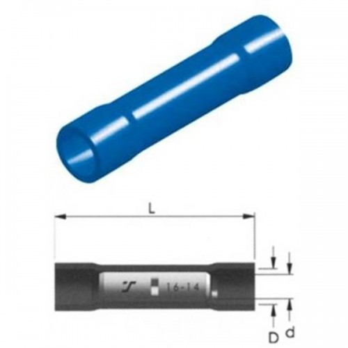 CABLE CONNECTOR INSULATED BLUE 2.5mm BC2V LNG