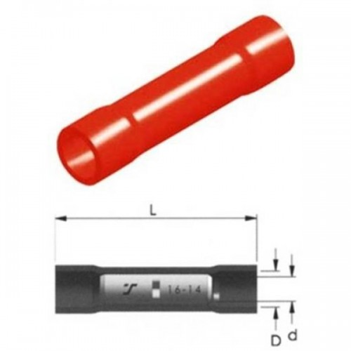 CABLE CONNECTOR INSULATED RED 1.5mm BC1V