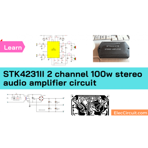 STK4231II 2 channel 100w stereo audio amplifier circuit
