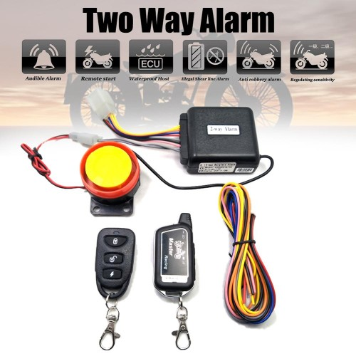 Master Racing Two Way Alarm Motorcycle Scooter Security