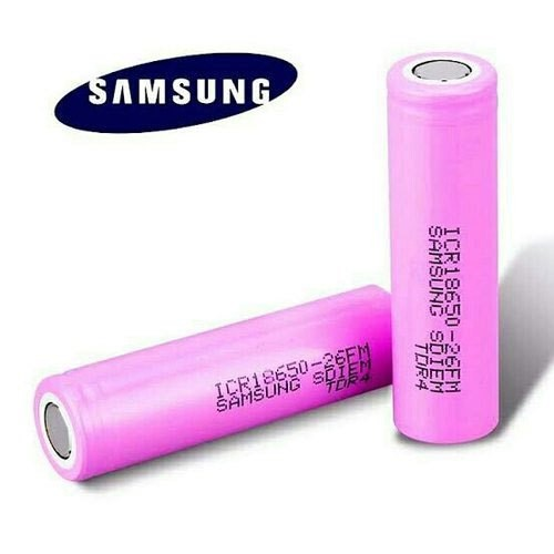 Samsung ICR18650-26H 26H 18650 2600mah 3.7V rechargeable Li-ion battery with flat top
