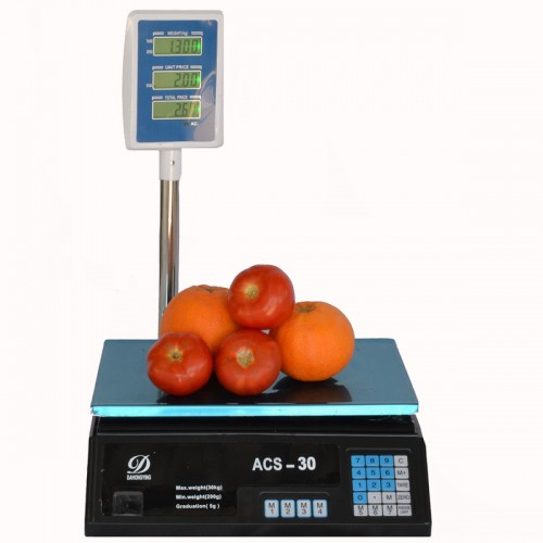 Price Computing Scale With Pole