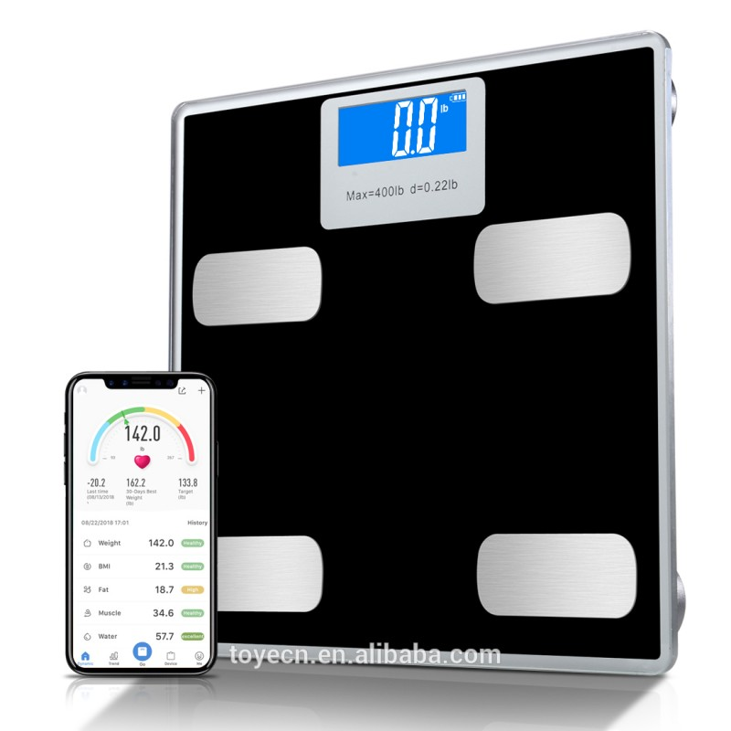 Bluetooth Digital Weight & Personal Health Scale with Wireless Smartphone Data Transfer