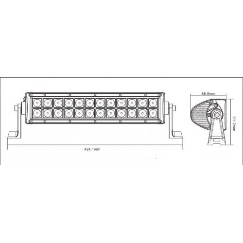 7-D-Plus Beam 13inch 90w Cree Led Light Bar