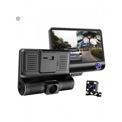 WDR Dashcam 3 Camera Lens Video Car DVR Full HD 1080 P