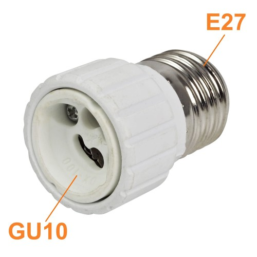 E27 to GU10 Lamp Socket Converter Adapter ABS