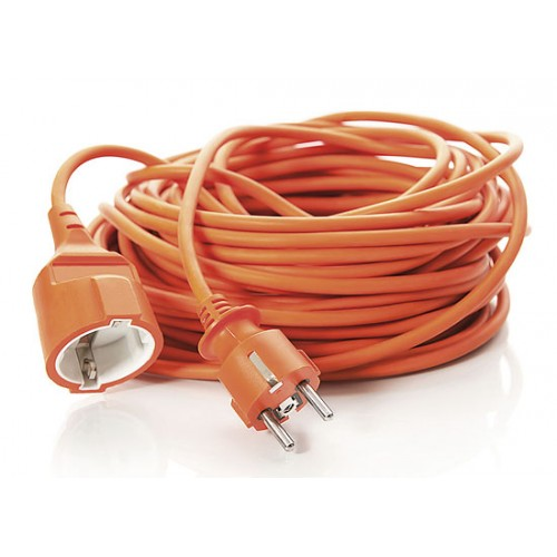 Solight Extension Cable, 1 socket, orange, 20m