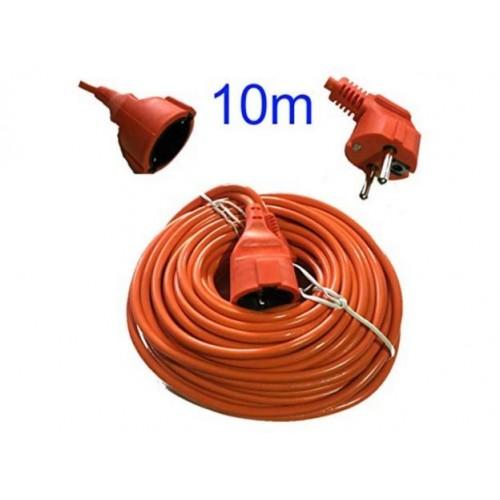 Extension Cable, 1 socket, orange, 10m