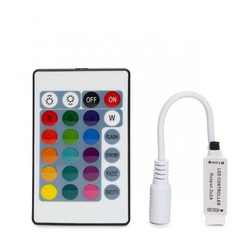 Controller Mini LED Strip RGB Remote Control 12VDC