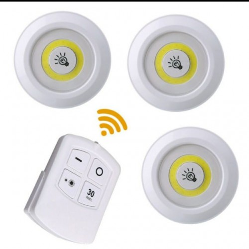 Tap Light with Remote (3PCS + 1 REMOTE)