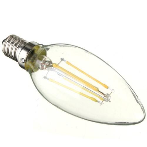 LED Bulb 6W Filament E14 Clear Cover Candle 6400K