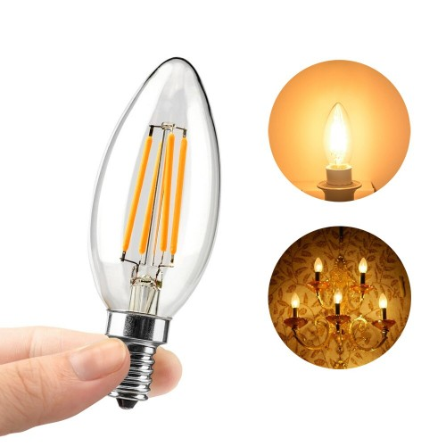 LED Крушка 6W Filament E14 Кендъл 3000K