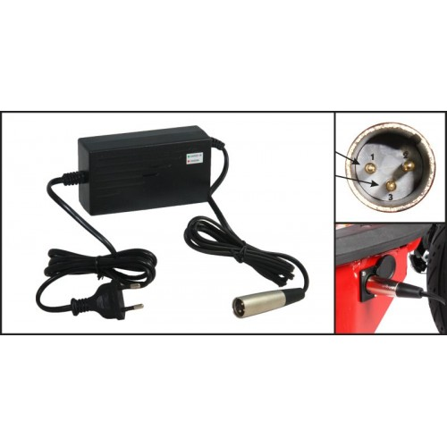 36V 2A battery charger, Output 42V 2A Charger - Input 100-240 VAC Lithium Li-ion Li-poly Charger For 10Series 36V Electric Bike