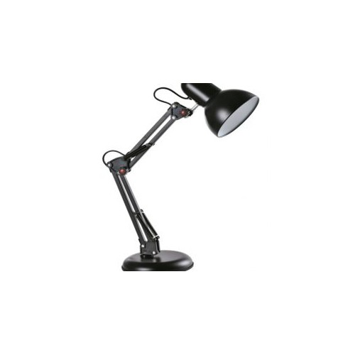 Architect Swing-Arm 31.5-in Black Swing-arm Desk Lamp with Metal Shade
