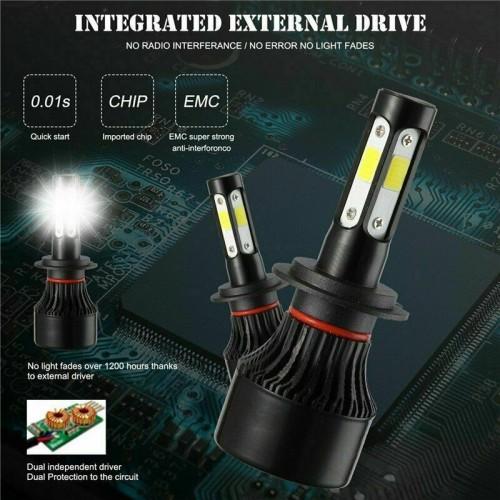 4-Side H7 LED Headlight Kits