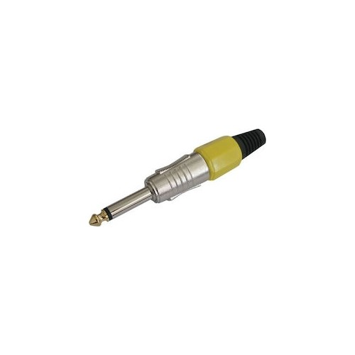 MONO jack 6.3mm² PLASTIC NICKEL YELLOW
