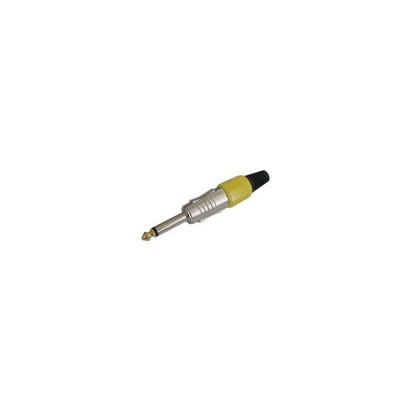 MONO jack 6.3mm² PLASTIC NICKEL YELLOW