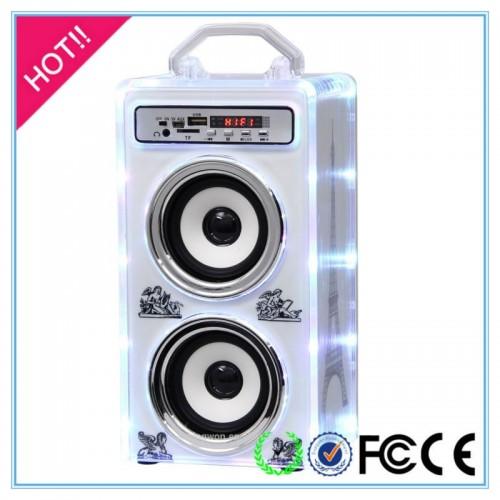 Портативная акустика JHW-V918 Bluetooth (USB, SD) цвет голубой