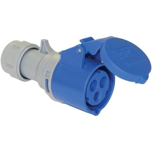 223-6 - 32a 230v 3p Cee Industrial Socket, Ip44, Blue
