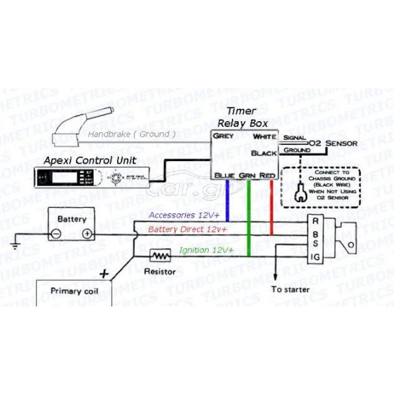 Apexi Turbo Timer With Red Led Back, Apexi Turbo Timer Wiring Diagram