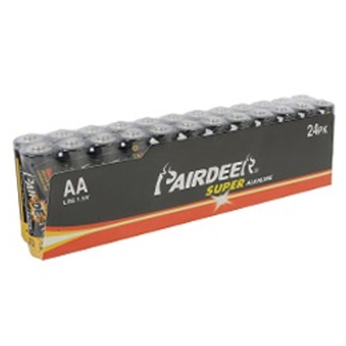 24pcs Pairdeer industrial LR6 AA Alkaline battery,high quality