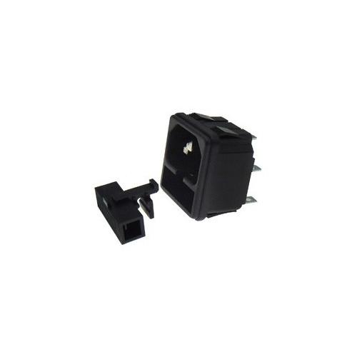 C14 Panel Mount Plug Adapter AC 250V 10A /5A 3Pin IEC Inlet Module Plug Straight