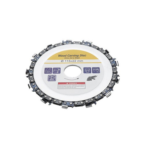 Grinder Chain Disc 22mm Arbor 13T Wood Carving Disc 115mm