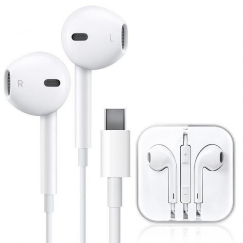 USB C Headphones, WamGra HiFi Stereo Type C Earbuds USB C Earphones with Mic & Volume Contro