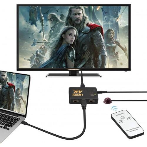 HDMI SWITCH 3 TO 1 4K Ultra HD