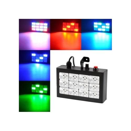 12 pcs full-color RGB LED strobe light bar laser light stage lighting