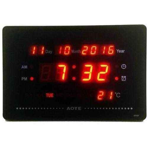 DIGITAL CLOCK LED MULTIFUNCTIONAL WALL O DESK - GIFT