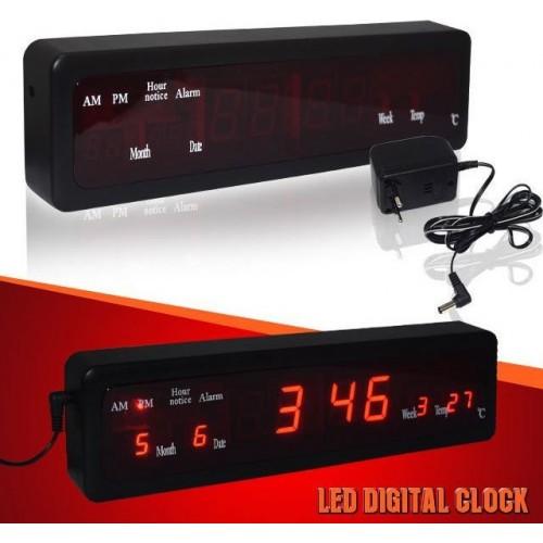 JH-808 LED Display Digital Wall Clock / Table Clock
