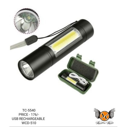 900 Lumen Led Rechargeable Handheld Flashlight torch Built-in Battery With USB Charger 3 Modes