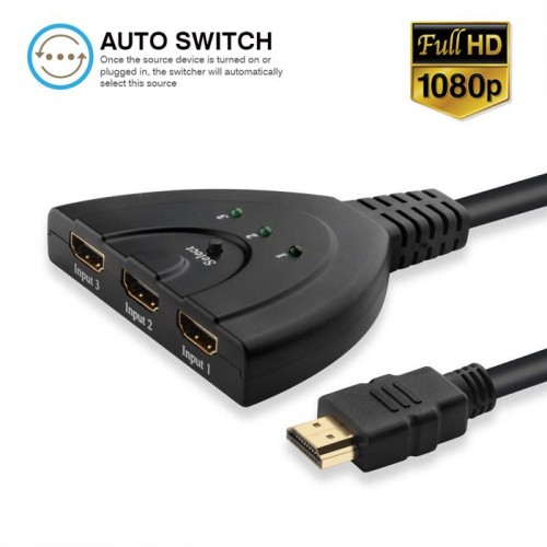 3X1 Pigtail HDMI Switcher