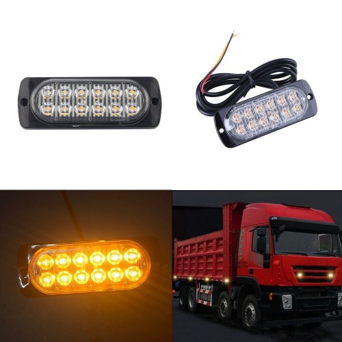 12LED 36W ultra-thin side light truck/lorry body side warning light side light Police Lights Truck