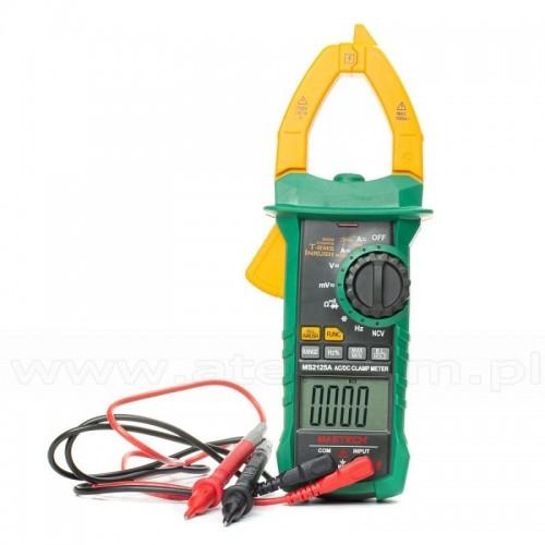 MS2125A - Амперклещи, LCD(6000), Vdc, Vac, Aac, Ohm, F, Hz, TRMS, MASTECH
