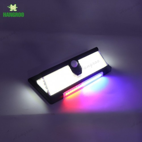 Solar Body Sensor Light Lamp PIR Motion Sensor Wall Light