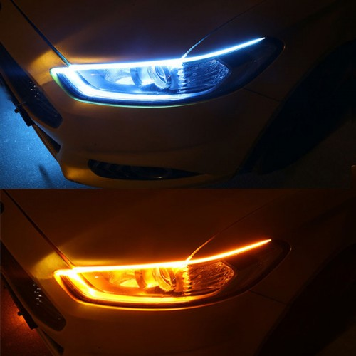 LED DRL flexible daytime running light soft article lamp switchback tube