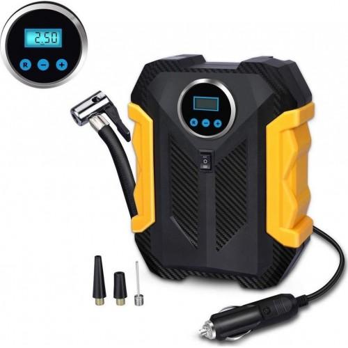Digital Air Compressor For Car Air Pump Portable Tire Inflator With LED Light 12V