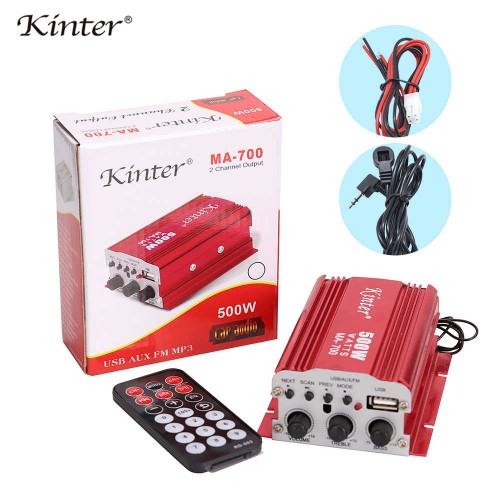 kinter MA-700 Mini audio Amplifier 2channels USB FM antenna for home car motorcycle