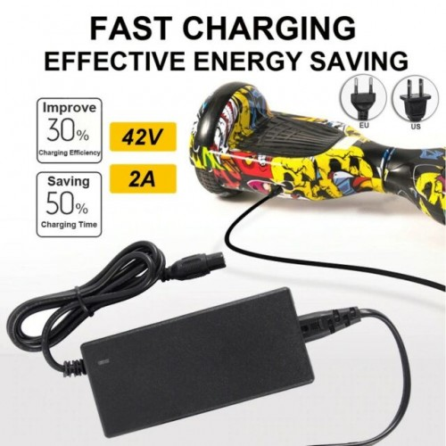 Scooter Charger For Hover Board 42V 2A Power Supply