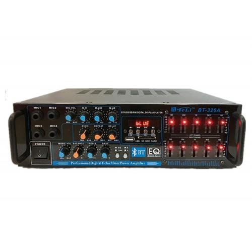 Hifi Power Amplifier BT-326A Bluetooth Amplificador 12V/220V Car Home Theater Audio Amplifiers Support FM USB SD Card