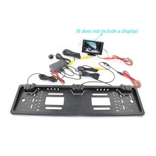 License Plate Parking Sensor With Car Reversing Rear View